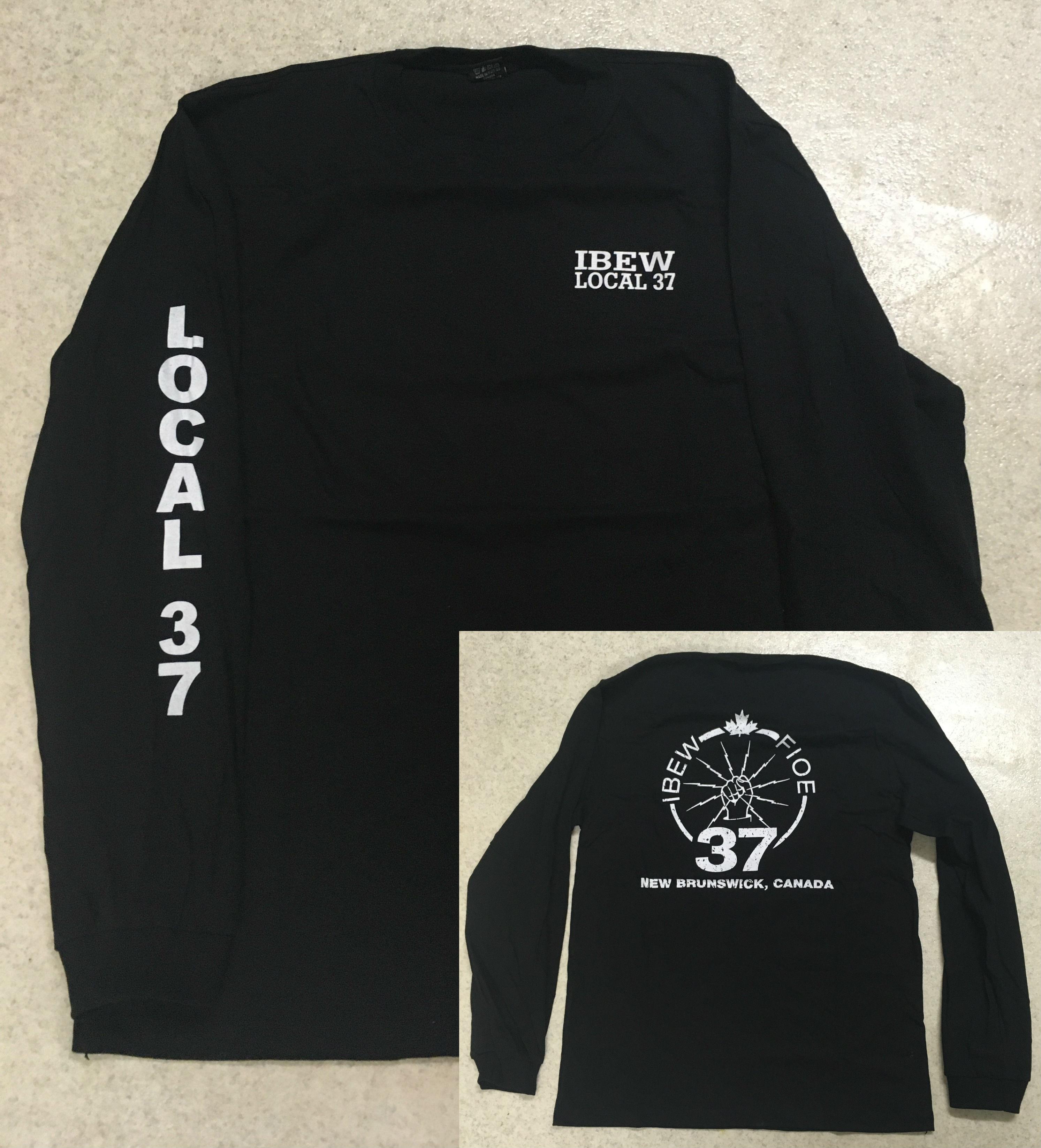 2cd876e01 Brown Dress Shirt. Beige Dress Shirt. Grey IBEW Logo T-Shirt
